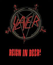 SLAYER cd lgo REIGN IN BEER! Pentagram Official SHIRT LRG new