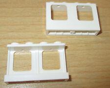 Lego City 2x Fenster ohne Glas 1 x 4 x 2  - in Weiß - selten
