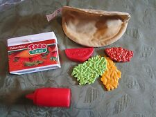 Fisher Price Fun with Food Taco Box snack mix fixin dinner Mexican dinner lunch