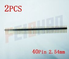 40Pin 2.54mm Straight Male Pin Header Strip, circuit board,PCB,LED F01928-2