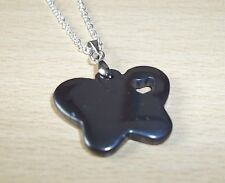 LOVELY HEMATITE BUTTERFLY PENDANT & 18inch CHAIN - NEW