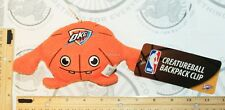 "OKLAHOMA CITY THUNDER OKC CREATURE NBA PLUSH TOY 4"" FIGURE BALL W/ CLIP 2013 NEW"