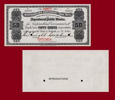 NEWFOUNDLAND 50 CENT 1907. UNC - Reproduction