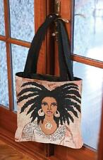 Talk To Me ~ African American Woman Ebony Tapestry Tote Bag ~ Gbaby Designs