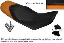 ORANGE & BLACK CUSTOM FITS KTM 690 DUKE 07-11 DUAL LEATHER SEAT COVER