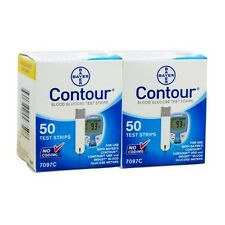 100 Bayer Contour Blood Glucose Test Strips Exp: 10/2016 FREE SHIPPING!
