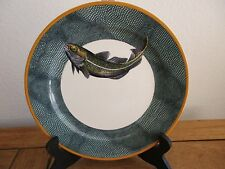 "Williams Sonoma English Angler COD 9"" Salad/Luncheon/Dessert Plate England"