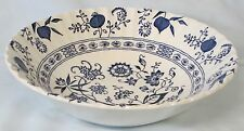 "J & G Meakin Blue Nordic Onion 8"" Round Serving Bowl"