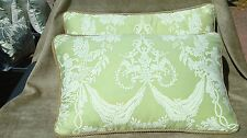 FORTUNY ITALY COTTON FABRIC BOUCHER SCALAMANDRE 2L DESIGNER THROW PILLOW SET NEW