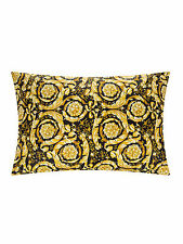 Gianni Versace Cotton Barocco Pillowcases in Black/Gold 53x76 cm Set of 2 NWT