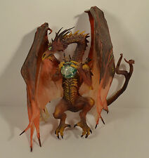 """8"""" Highly Detailed Red Dragon w/ Crystal Ball PVC Action Figure"""