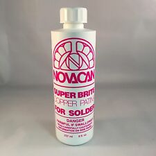 Novacan Super Brite Copper Patina for solder - (8 Oz) stained glass supplies