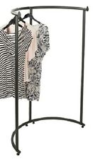 "Half Round Clothing Rack Pipeline Collection Vintage Garment 37 1/2""W x 55""H"