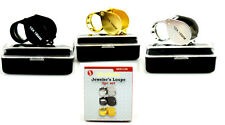 Jewelers Loupe Loupes Set of 3 10X Magnifiers Magnifying Glass Lens Folding