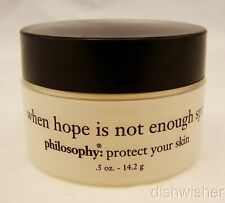 Philosophy WHEN HOPE IS NOT ENOUGH SPF 20 Sunscreen .5 oz NEW EXP 03/08
