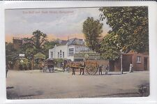 VINTAGE 1906 POSTCARD THE BULL AND BUSH HOTEL, HAMPSTEAD, LONDON HORSE & CARTS