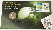 2015 International Cricket ICC World Cup Stamp and Coin Cover PNC