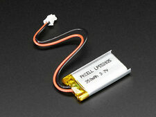 Lithium Ion Polymer 3.7v Rechargeable Battery 350mAh Electronic Projects Arduino
