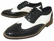 Mens Dress Shoes Wingtip Lace Up Leather Line Oxfords Brogue Casual Colors Sizes