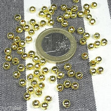 400 Abalorios Redondos 4mm  T249C  Dorados Round Golden D'or золотой χρυσαφένιος