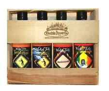 Hot Sauce Gift Set Habanero Chipotle Garlic Sweet Sauce 4 Pack Wicked Tickle
