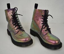 Dr. Martens Boots Pascal Violet Mirror Shif Suede Size 6 Womens New