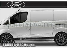 Ford Transit CUSTOM side racing stripes 004 graphics stickers decals