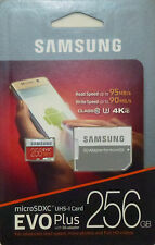 SAMSUNG EVO PLUS 256GB MicroSD SDXC UHS-I Class10 U3 95MB/s With SD Adapter NEW
