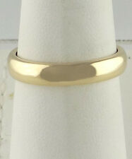 LADIES MENS 14K YELLOW GOLD ART CARVED PLAIN HIGH POLISH WEDDING BAND RING 4mm