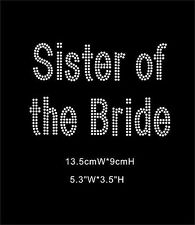 Sister of the Bride DOUBLE LINE Diamante Iron On Transfers (XRST078)
