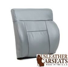 2004-2008 Ford F150 Lariat Driver Side Top Lean Back Leather Seat Cover Gray