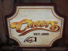 *METAL CHEERS SIGN* bar pub beer poster tavern vintage retro style boston coffee