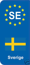 lot 2 Stickers style immatriculation (Vinyl FLAG) Europe Sverige  SE