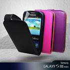 3 Color Vert Flip Leather Case Cover for Samsung Galaxy S3 S 3 III Mini i8190 +S