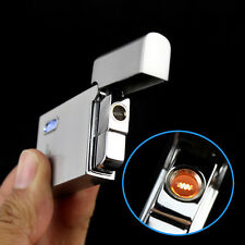Silver Jobon Jet Torch Flame Butane Gas Cigar Smoking Tobacco Lighter With LED