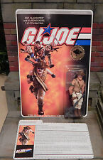 GI JOE ~ 2006 SGT SLAUGHTER MOC  & FILE CARD ~ CONVENTION EXCLUSIVE