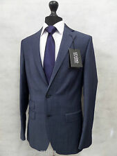 Men's Tailored Fit Blue STVDIO Jeff Banks Suit 38L W32 L31 MV8137