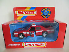 MATCHBOX SUPERKINGS K78/SA 'FIRE CHIEF' PLYMOUTH GRAN FURY. Ltd Ed. MIB/BOXED