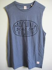 ($48) NWT DEUS EX MACHINA TANK SIZE S LAND PILL MUSCLE BLUE TEE W GRAPHICS