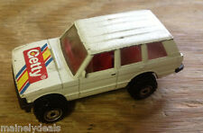 1989 Mattel Hot Wheels White Getty Land Rover! See Pics!