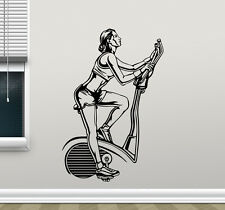 Fitness Gym Bike Wall Decal Sport Motivation Vinyl Sticker Art Decor Mural 48fit