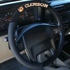 CLEMSON TIGERS BLACK MESH CAR AUTO STEERING WHEEL COVER NEW FREE SHIPPING
