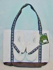 LAURA ASHLEY SLIPPERS AND MATCHING TOTE SIZE SMALL NWT