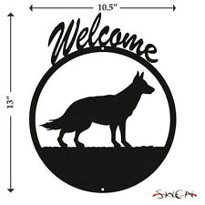 German Shepherd Black Metal Welcome Sign *NEW*