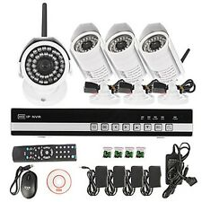 4 Ch Channel Network Video Recorder Wireless IP Home Security Camera NVR System