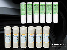 12 Reverse Osmosis/Sediment/Carbon/Water Filters RO DI