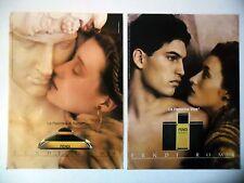 PUBLICITE-ADVERTISING :  FENDI ROMA uomo [2pages] 1990 Parfums