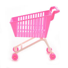 1 X Shopping Trolleys for Barbie Girls Play House Dollhouse Furniture Pink K67