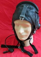 Genuine 1987 Soviet AF Pilot Leather Helmet/USSR-Russia/FREE SHIPPING IN USA