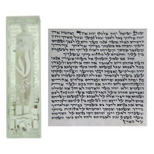 Mezuzah 7CM Glass Case With Kosher Scroll Hebrew Jewish Mezuzot Mezuza Silver